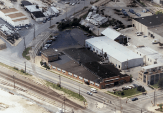 Aerial view of Reed Rubber Products facility in 1985